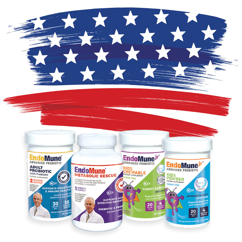 Endomune products made in the United States of America